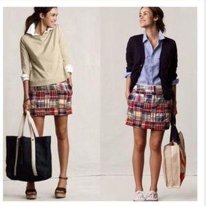 J. Crew patchwork mini skirt